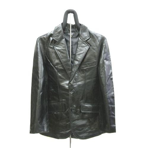 【角石】本革2釦テーラードジャケット