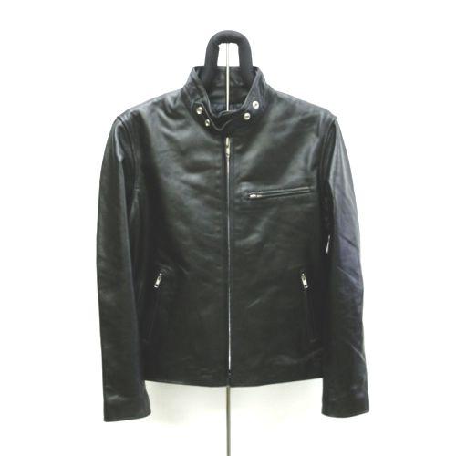 【角石】牛革シングルライダースジャケット