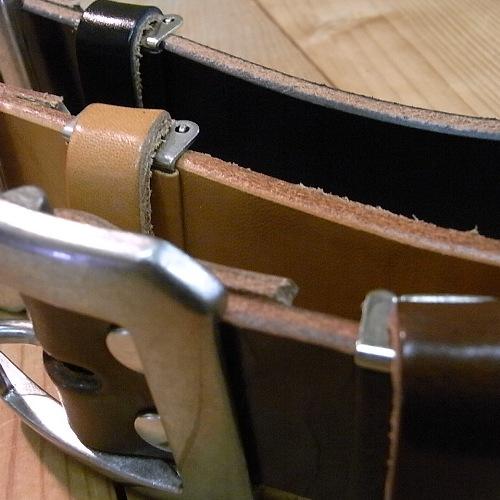 【角石】♪厚さ約5mm、丈夫な1枚革のショルダーレザーベルト♪