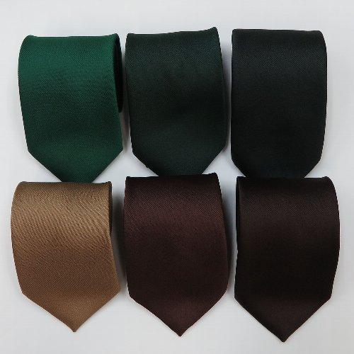 【正岡商事】18色構成の無地ネクタイ