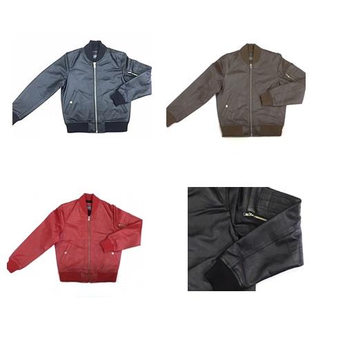 【角石】牛革MA-1ジャケット