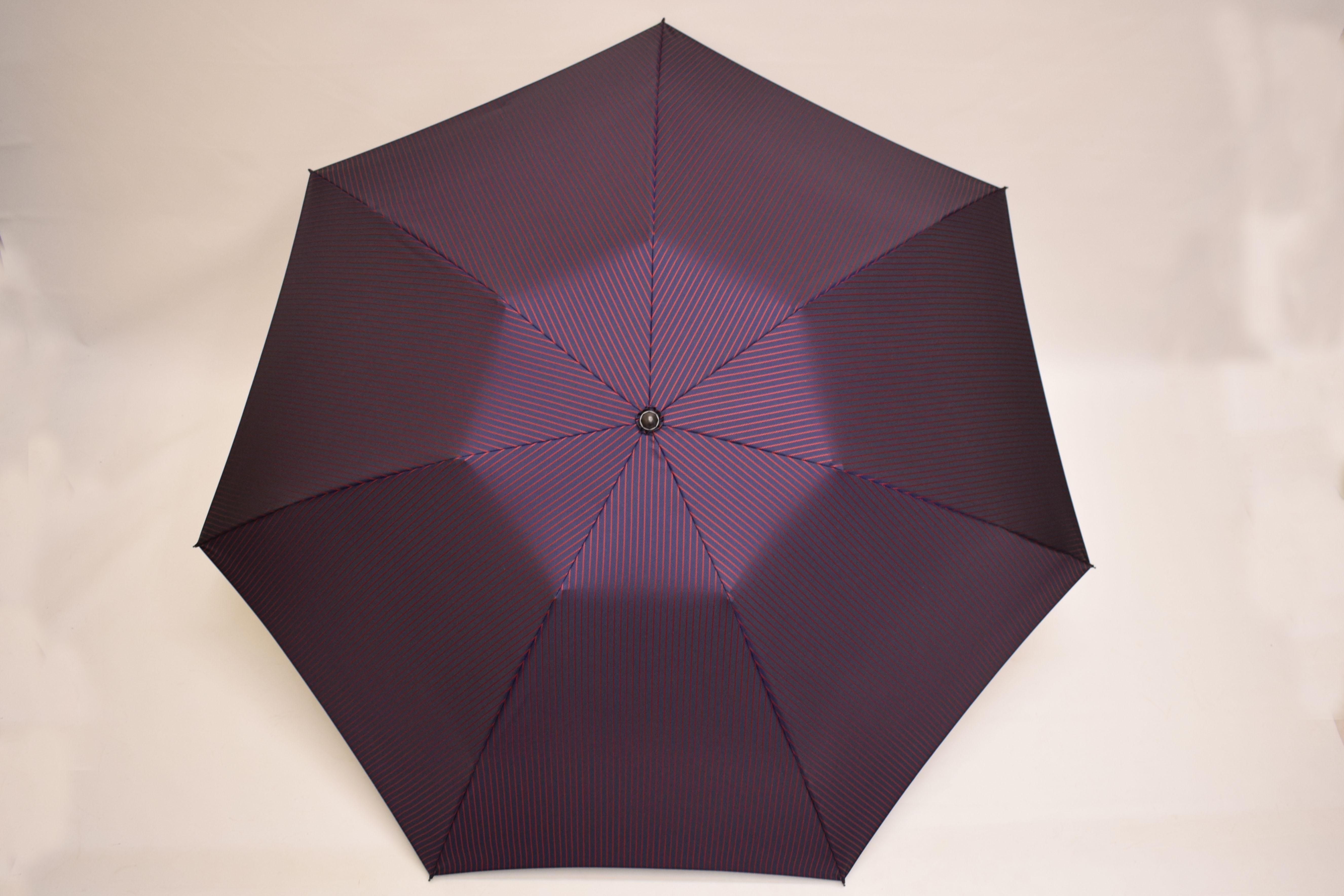 甲州織立体ストライプ、ミニおりたたみ傘