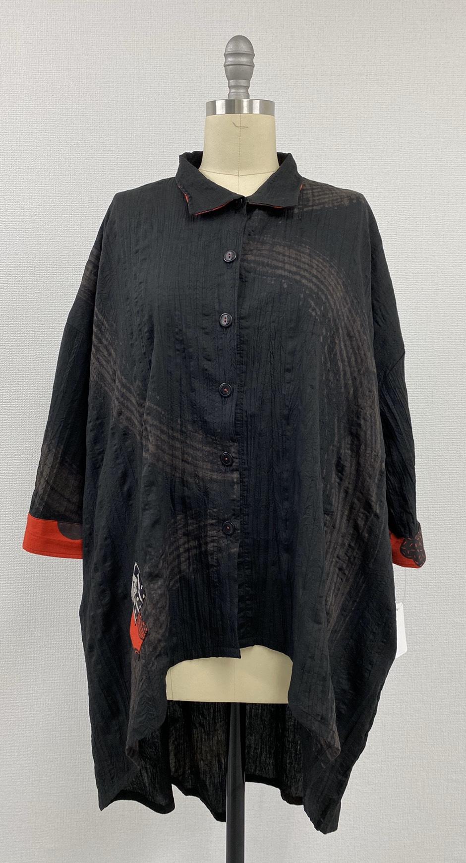 【TRY】綿ポリ刷毛プリントコレクション